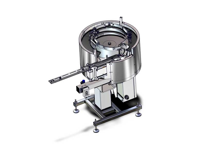 Cap sorting bowl for liquid cosmetics up to 120 units per minute