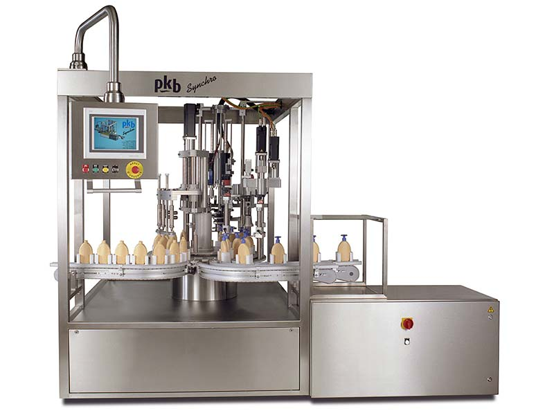 PKB SYNCHRO COSMETICS : filling/capping machine up to 50 bpm