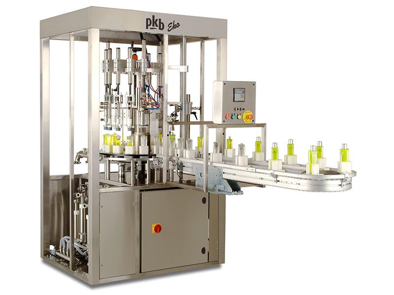 PKB EKO PERFUME: 30 bpm perfume filling and capping machine