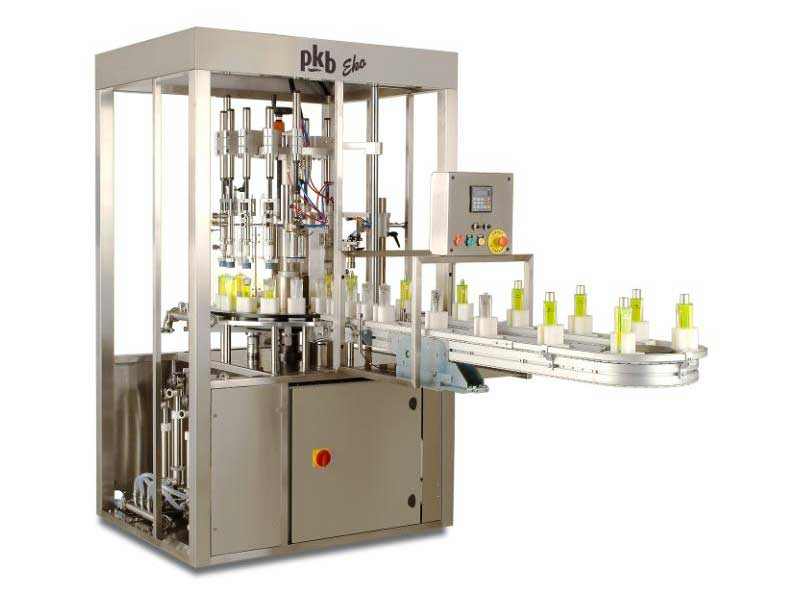 PKB EKO PERFUME MINIATURES : entry-level filling/capping machine up to 60 bpm